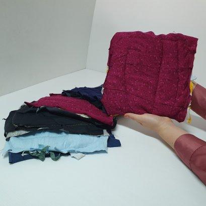 เศษผ้าและเศษผ้าเย็บวน
