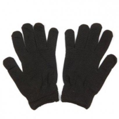 ถุงมือไมโครเท็กซ์สีขาว/ดำ