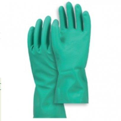 ถุงมือกันสารเคมี (สีเขียว)