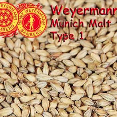 มอลต์ทำเบียร์ Munich malt type 1 (500 g.)