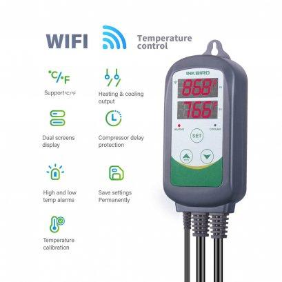 ตัวควบคุมอุณหภูมิตู้เย็น Inkbird ITC-308 WIFI Digital Temperature Controller EU & US Plug Outlet Thermostat