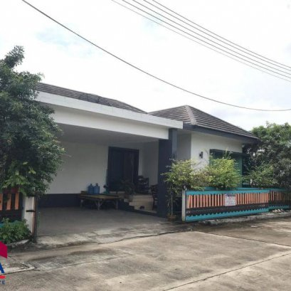 House for sale after the road in the village of sc hill pluakdaeng.