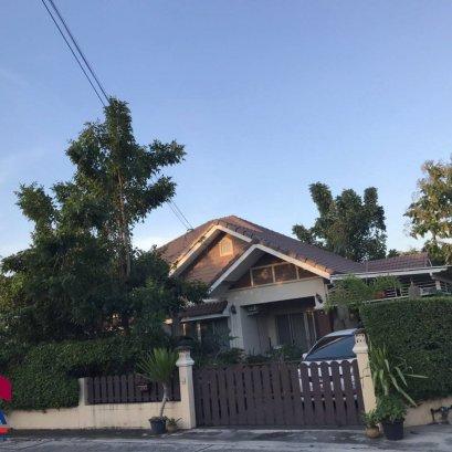บ้านแฝดชั้นเดียว ตกแต่งร่มรื่น ขนาด 55 ตารางวา