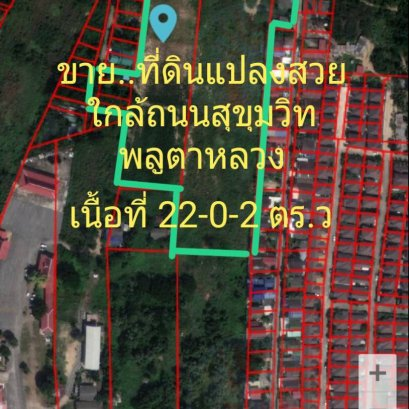 Land for sale, size 22-0-02 square wah, offering price 4 million baht per rai.