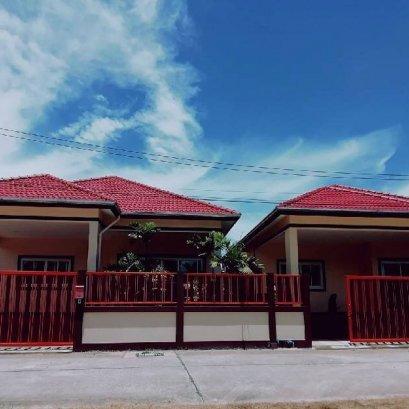ขายบ้านเดี่ยว บ้านใหม่สะอาดกว้างขวาง หมู่2ซอยสันติสุข 9