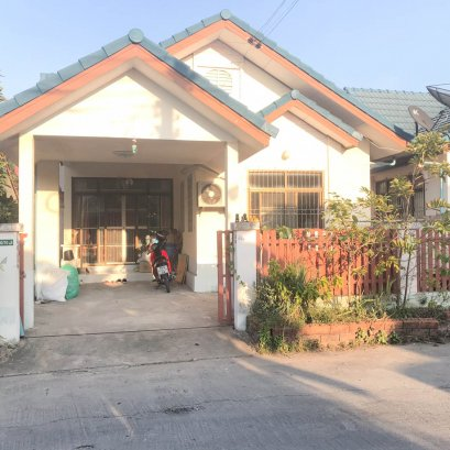 Selling one-story house, cheap price Bo-win village, Khao Chabang, Sriracha, Chonburi