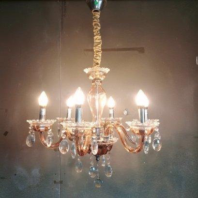 โคมไฟเชิงเทียน ขาแก้ว 847-6