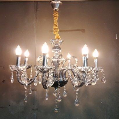 โคมไฟเชิงเทียน ขาแก้ว 835-8