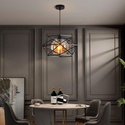 neolight-โคมไฟห้อย เหล็กสีดำแก้วชา. คลาสลิก 6356-S