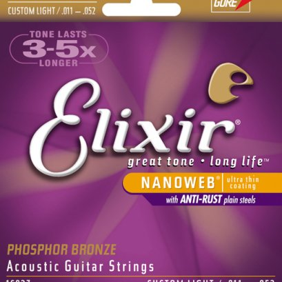 Elixir acoustic Guitar Strings .011-.052
