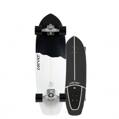 """CARVER 32.5"""" BLACK TIP SURFSKATE 2020 COMPLETE CX"""