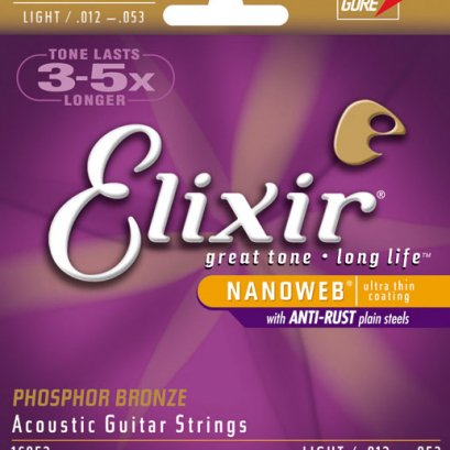 Elixir Electric Guitar Strings .012-.053