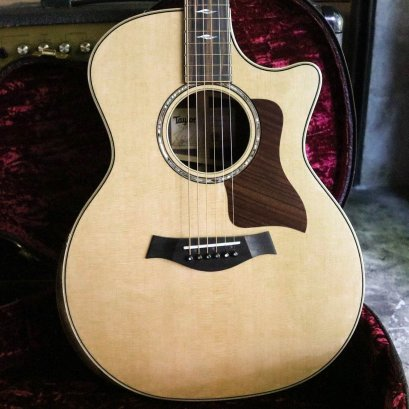 Taylor 814ce V-Class Grand Auditorium Deluxe Cutaway - Natural Sitka Spruce Top 2018