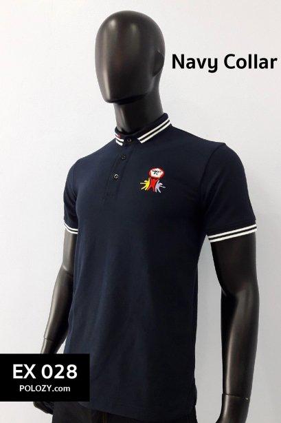 เสื้อโปโลปก Navy