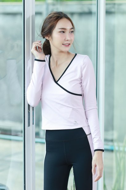 V-neck Yoga Sport Shirt