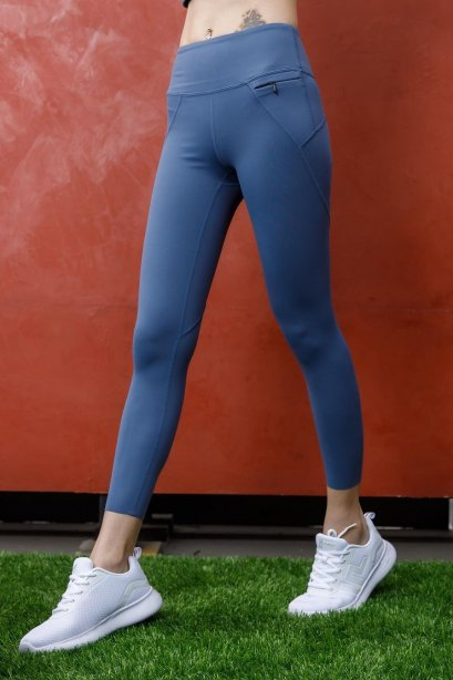 Gray control leggings - กางเกง