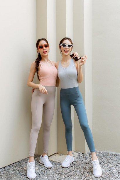 vivi Pastel Jumpsuit sporty - ชุดออกกำลังกาย