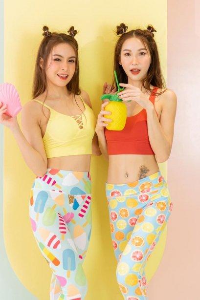 Mellow yellow bra - Sports bra