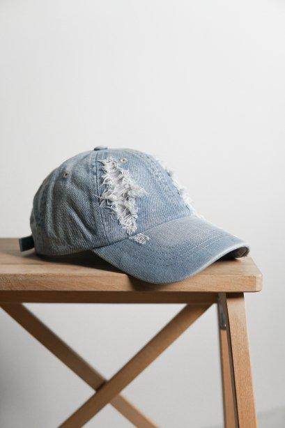 G005 Light Blue หมวกแก๊ป ผ้ายีนส์ฟอก
