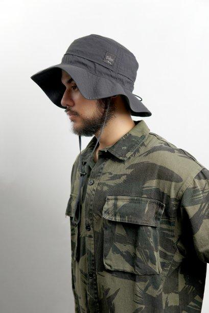 G100 | สีเทา Hiking hat  หมวกเดินป่า ทรงปีกกว้าง