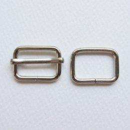 ห่วงเหลี่ยม, ตัวปรับสายกระเป๋า สีเงิน ขนาด 2 ซม. (1 อัน)
