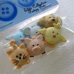 กระดุมตกแต่ง Pudgy Pets (Taiwan)