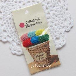 เข็มหมุดหัวแบน รูปดอกไม้ จากญี่ปุ่น (36 เล่ม)