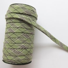 ผ้ากุ๊นสำเร็จรูป กว้าง 1 ซม. ยาว 90 ซม. (สีเขียว)