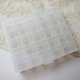 (สินค้ามีตำหนิเล็กน้อย) กล่องกระสวย ใส่กระสวยได้ 25 อัน (กล่องเปล่า)
