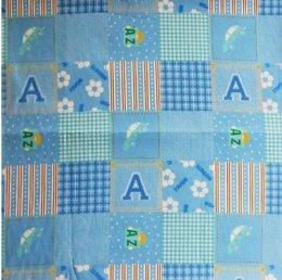 ผ้าญี่ปุ่นเนื้อหนา สีฟ้า ขนาด 1/4 เมตร (50 * 55 ซม.)