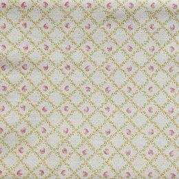 ผ้าคอตตอนลินินญี่ปุ่น ลายสตรอเบอรี่ สีเหลือง ขนาด 1/4 หลา (45 * 55 ซม.)