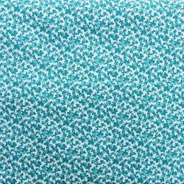 ผ้าคอตตอนญี่ปุ่น ลายผีเสื้อ สีฟ้า ขนาด 1/4 หลา (45 * 55 ซม.)