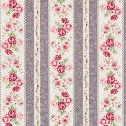 ผ้าญี่ปุ่น Rose Quilt Gate สีเทา ขนาด 1/4 หลา (45*55 ซม.)