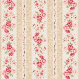 ผ้าญี่ปุ่น Rose Quilt Gate สีน้ำตาล ขนาด 45 * 55 ซม.(1/4 หลา)
