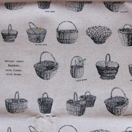 ผ้าคอตต้อนลินินญี่ปุ่น ลายตะกร้า Daiwabo ขนาด 1/4 หลา (45 x 55 ซม.)
