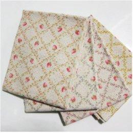 ผ้าคอตตอนลินินญี่ปุ่นจัดเซต 4 ชิ้น ขนาด 27 * 45 ซม.