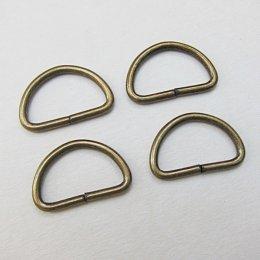 ห่วงตัว D สีทองเหลือง ขนาด 2.5 ซม. (4 อัน)