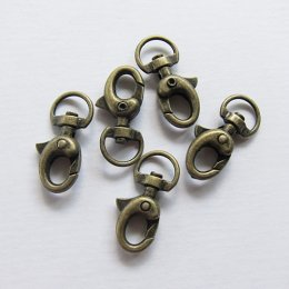 ตะขอก้ามปู ยาว 3 ซม. สีทองเหลือง (5 ชิ้น)