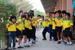 """ฮุนไดจัดกิจกรรมเพื่อสังคมโครงการ """"บลู ซานต้า"""" ที่โรงเรียนวัดสนามช้าง"""