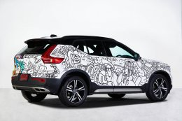 """Volvo XC40 Art-on-Car by Jackbrick"" งานศิลปะแบบ Street Art"