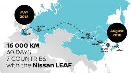 นิสสัน ลีฟ ผจญภัยข้ามทวีประยะทางกว่า 16,000 กม.