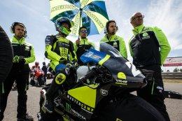 """""""แสตมป์"""" อภิวัฒน์ ติดท็อปเท็นศึก CEV moto3 ชิงแชมป์โลก"""