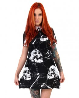 Liquor Brand BONES-collar Damen Kleid