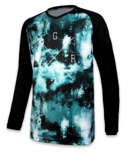 Loose Riders FOREST TEAL Herren Jerseys Lange Ärmel