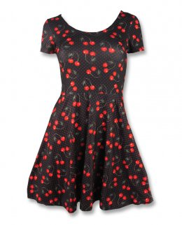 Liquor Brand CHERRIES black-skate Damen Kleid