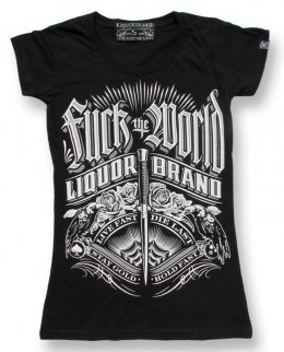 Liquor Brand FUCK THE WORLD Damen T-Shirts.