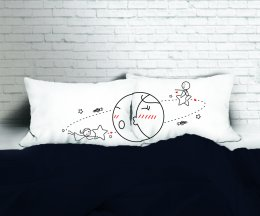 SATELLTE SET/2 PILLOW CASE II