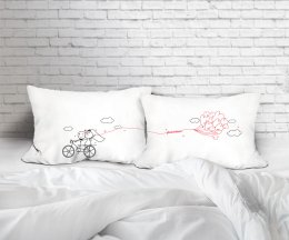 FOREVER BIKE  SET/2 PILLOW CASE