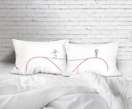 CROSS MY HEART SET/2 PILLOWCASES