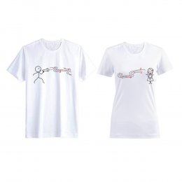 Love song couple T-shirt white